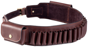 BELT, HERITAGE LEATHER CARTRIDGE 12GA, BROWN