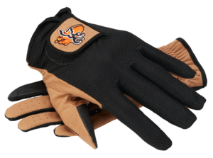 GLOVES, MESH BACK, BEIGE BLACK
